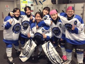 Christie Cheung (on the far left) with her team